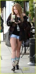 Miley Cyrus visits Urth Cafe with friends in West Hollywood, CA