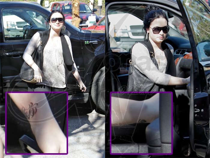 demi lovato tattoo 2011. New Demi Lovato Tattoo