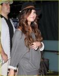 Demi Lovato Arriving On A Flight At LAX